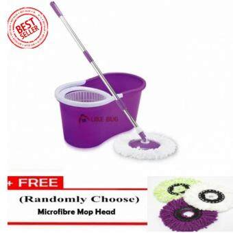 FARMIE: Portable Magic Spin Mop Cleaner with 2 Mop Heads + Free 1pc.Replacement Mop Cloth