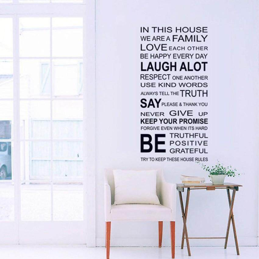 Fashion Design Family English Quote Proverbs Wall Stickers Room ArtDecor  Removeable Decals DIY   Intl