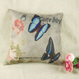 Beli Fashion Linen Throw Pillow Cases Home Sofa Waist Decorative Cushion Cover Square Di Hong Kong Sar Tiongkok