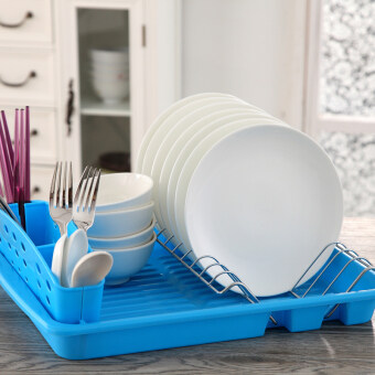 Fei LEXY single dish rack dishes Drain Plate kitchen shelfmulti-function Put dishes rack plastic