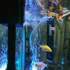 Fish Tank Accessory Mini Colorful Lamp Submersible Light 12 LED Air Bubble Stone Fish Tank Aquatic Accessory