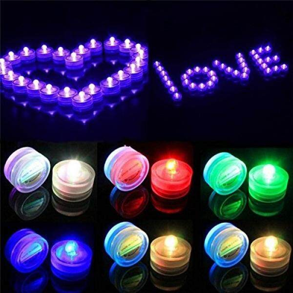 Flameless Led Tea Light Candles, Party Lovers Decoration Submersible Underwater Waterproof LED Tealight Candle - Powered - Multi Color (4 Dozen) - intl