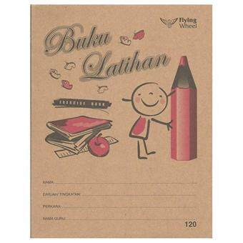 Harga Flying Wheel 120 Kraft Cover Exercise Book ? Buku Latihan 120pgs(Item No: C02-40) A1R4B140