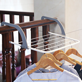 Harga Folding drying rack multi-function balcony drying rack creativenon-slip bathroom towel rack heating piece sill drying hanger