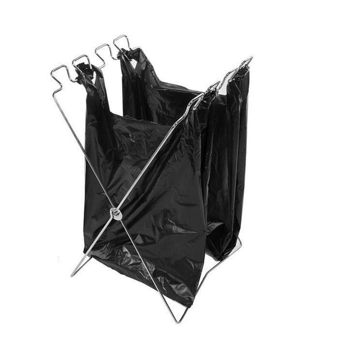 FOLDING GARBAGE BAG HOLDER