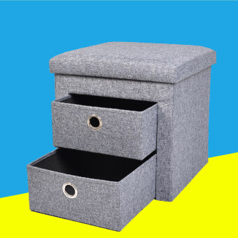 Folding storage home multifunction stool changing his shoes storage stool