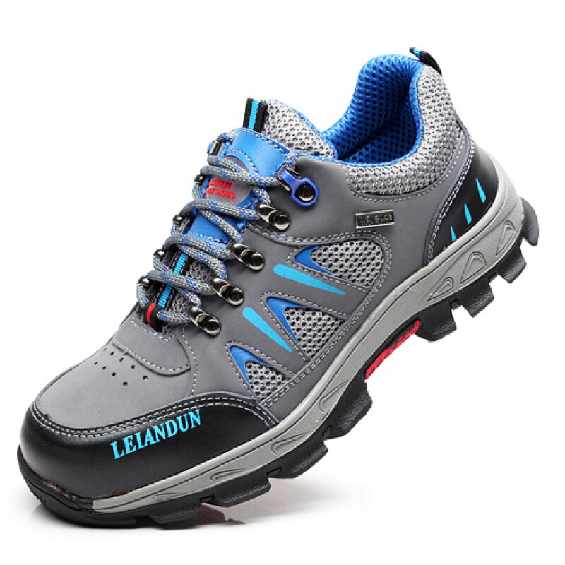 Buy Free Shipping summer breathable deodorant safety shoes male steel header anti-smashing anti-Piercing site wear and work shoes safety shoes Malaysia