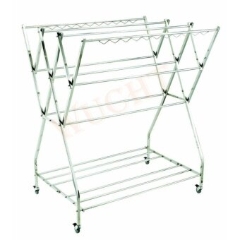 Free Standing Stainless Steel Cloth Hanger / Mobile Cloth Hanger / Cloth Dryer