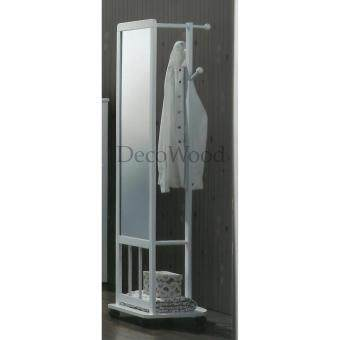 mirror stand. fully solid wood mirror stand with clothes hanger room rack dressing