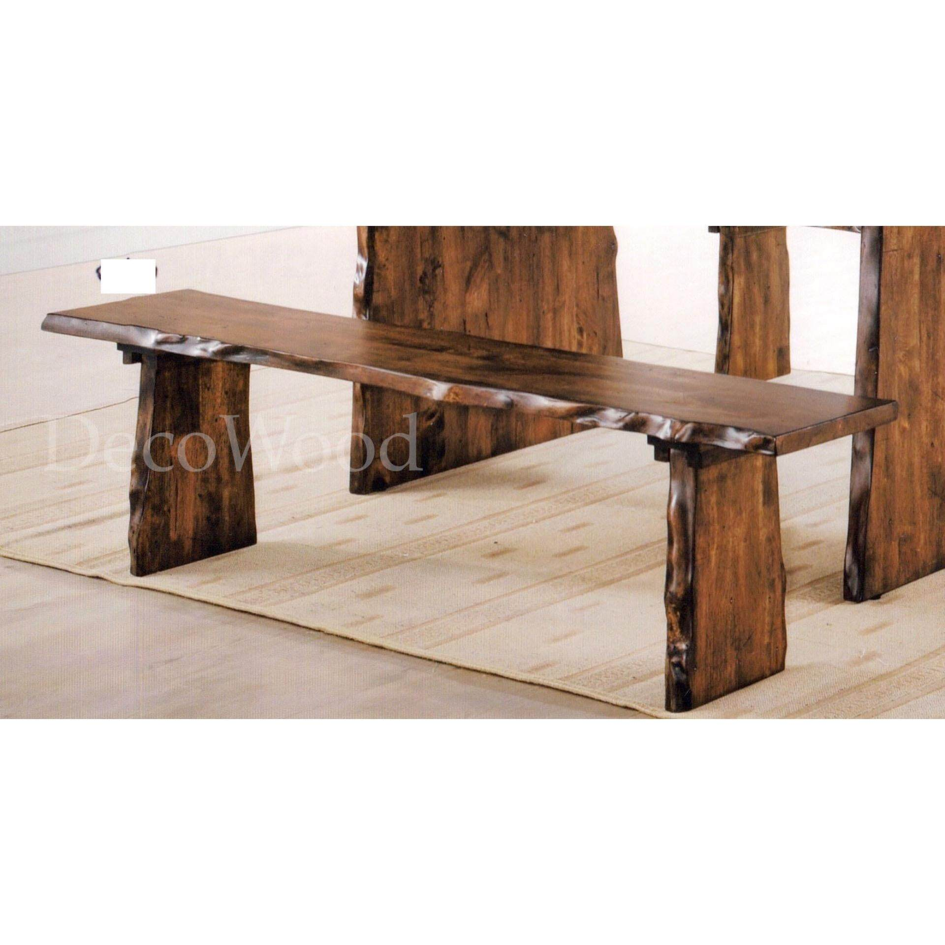 Fully Solid Wood Outdoor Garden Long Bench (Oak Colour) Pre Order 1 Week L1500MM X W450MM X H400MM
