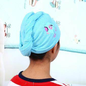 Harga Functional Hair Drying Towel Quick Dry Hair-wrapping Hat Cap ForBath(elephant)