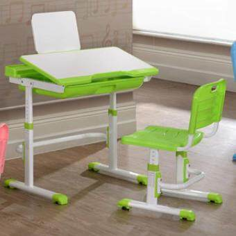 Furniture Direct Ergonomic Adjustable Study Desk With Chair (Green)