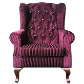 Furniturerun Supreme Faux Diamond Wing Chair (Purple)