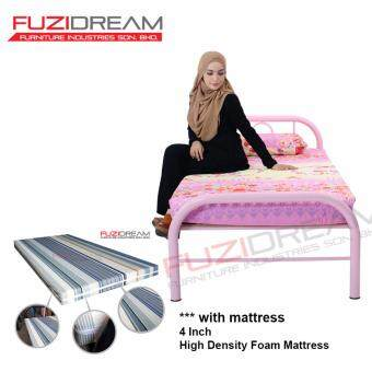 Harga FUZI DREAM SINGLE BED PINK - WITH 4 INCH MATTRESS