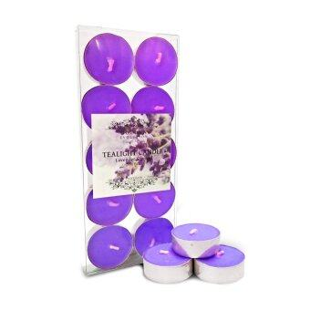 Harga GE Candle Works Lavender Scented Tealight Candle 10 PCS in PVC Box(Purple)