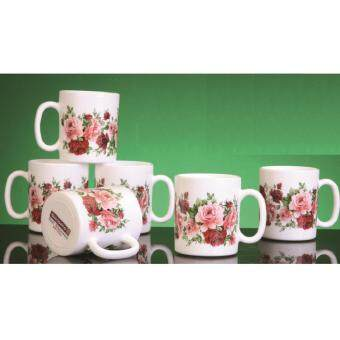 Giacomo 320ml Decorated Mug (Rose Delight) - 6pc