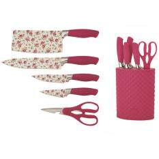 Giacomo 6pcs Decorated Stainless Steel Knife Set With Non Stick Coating Pr
