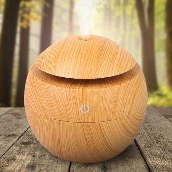 Harga Gogerstar 130ml Humidifier Ultrasonic Aroma Aromatherapy Essential Oil Diffuser, Wood Grain USB Color Changing Cool Mist Whisper Quiet Scent Spa Diffusers
