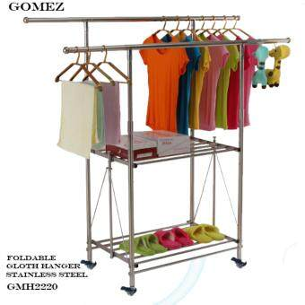 GOMEZ GMH2220 New Generation Premium Quality Stainless SteelFoldable Cloth Hanger Drying Rack Cloth Laundry Hanger