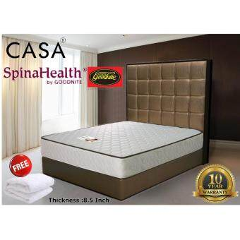 Harga Goodnite Spinahealth 8.5 Inch Posture Ishape Spring King Mattress Only (10 Year Warranty with Free Gift)