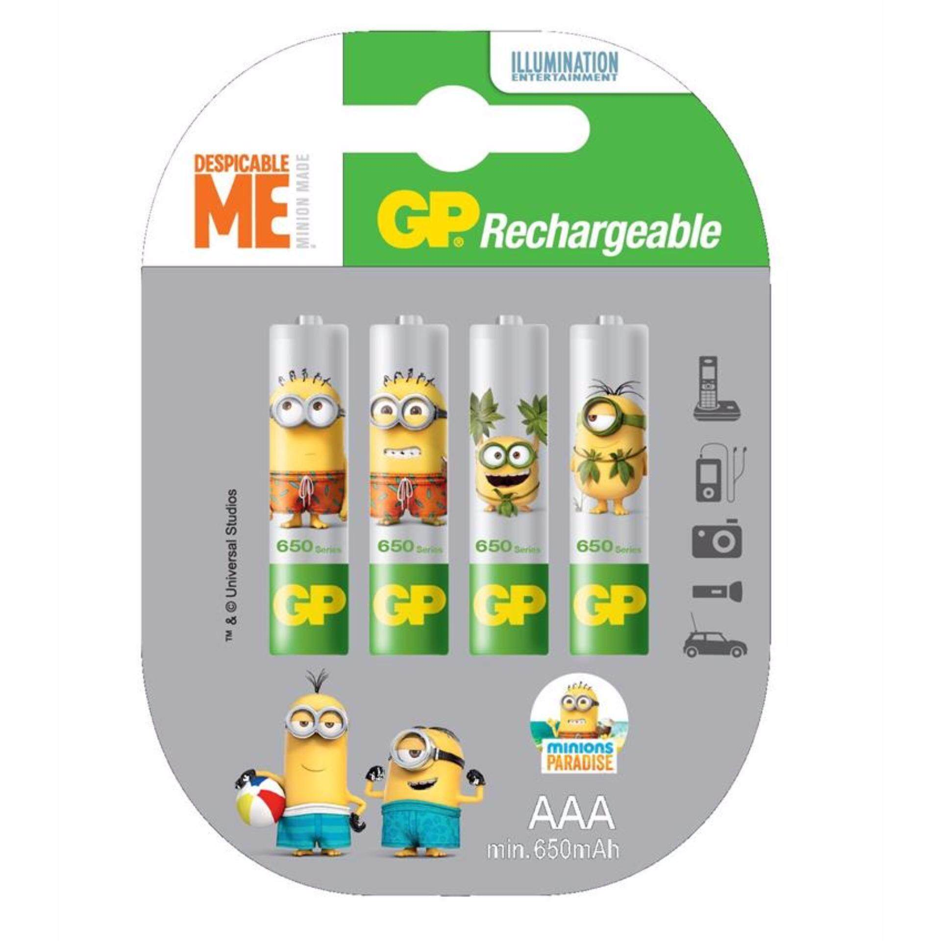 GP Batteries Minions Rechargeable Battery 4xAAA 650mAH