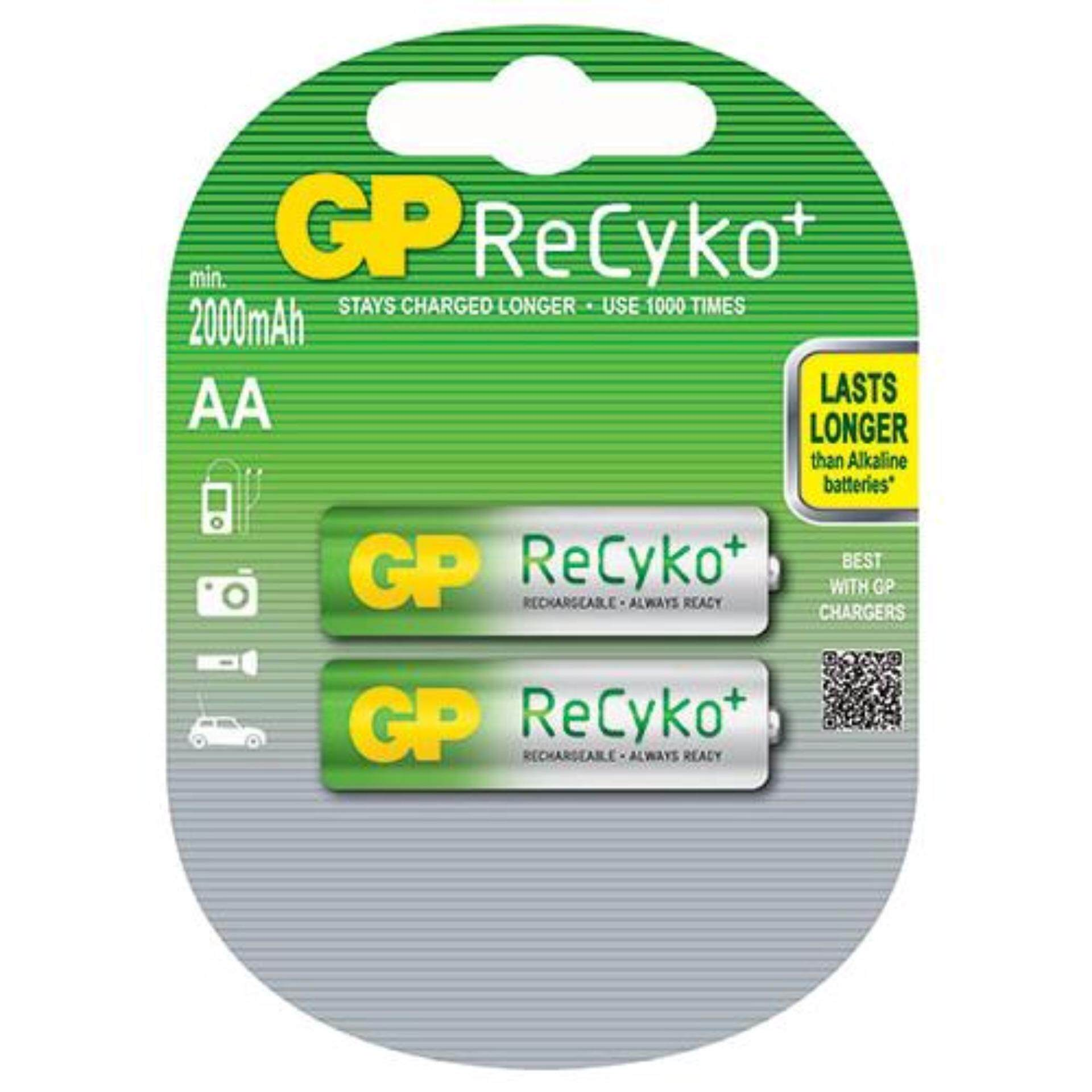 GP Batteries Rechargeable Battery 2pcs AA size ReCyko+ 2100 Series