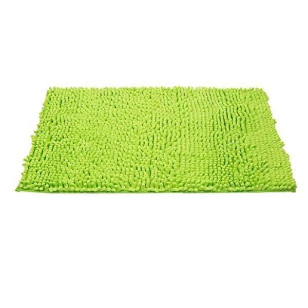 Grand Era Microfiber Shag Bathroom Mat Non-slip Chenille Bath Mat Water Absorbent Shower Mat Perfect for Bathroom, Super Soft, 24x 35, Green - intl