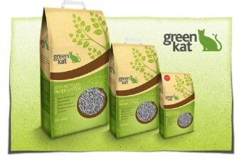 Green Kat 100% Recycled Cat Litter - 24L