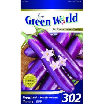 Green World Seeds GW-302 Eggplant-Purple Dream (Terong) 50 SEEDS
