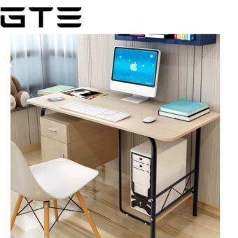 GTE TS-03 Combination of Desktop Laptop Wooden Desk With Cabinet (120cm x 60cm) - Light Brown