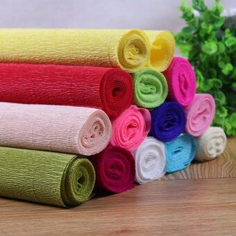 Harga Handmade Diy Wrapping Paper Craft Decor 1 Roll DIY Flower MakingCrepe Papers Wrapping Flowers Packing Material 250x50cm XHH8133-11