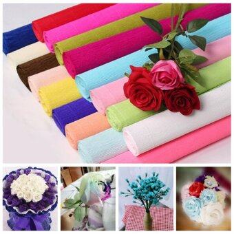 Harga Handmade Diy Wrapping Paper Craft Decor 1 Roll DIY Flower MakingCrepe Papers Wrapping Flowers Packing Material 250x50cm XHH8133-13