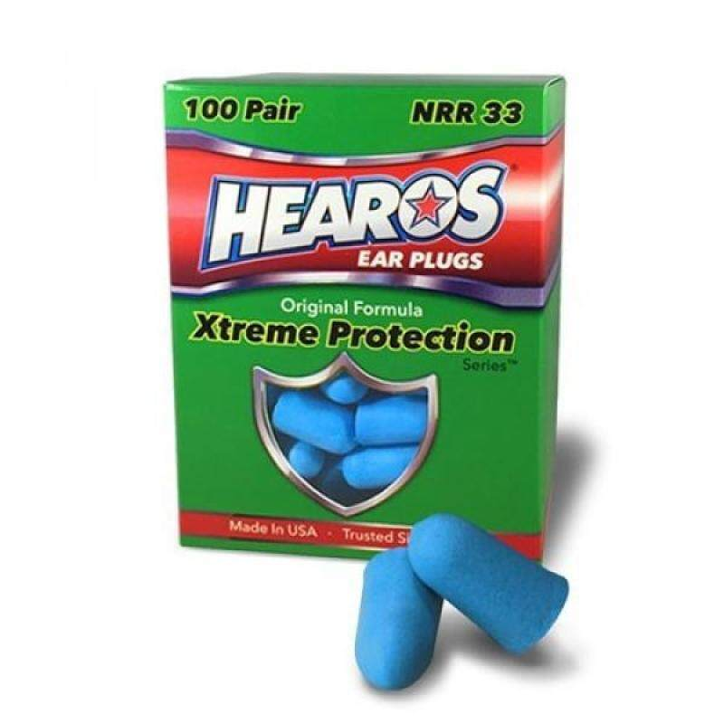 Buy HEAROS XTREME 100 Pair Foam EAR PLUGS With NRR 33 Noise Canceling Hearing Protection Malaysia