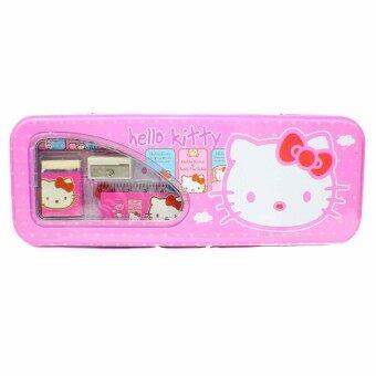 Hello Kitty Girls Kids Metal Pencil Case Stationery Set
