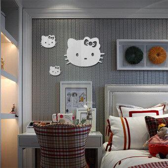 Hello Kitty Mirror Wall Stickers Three Only Cat Mirror Stickers Childrenu0027s  Bedroom Decorative Sticker Z113