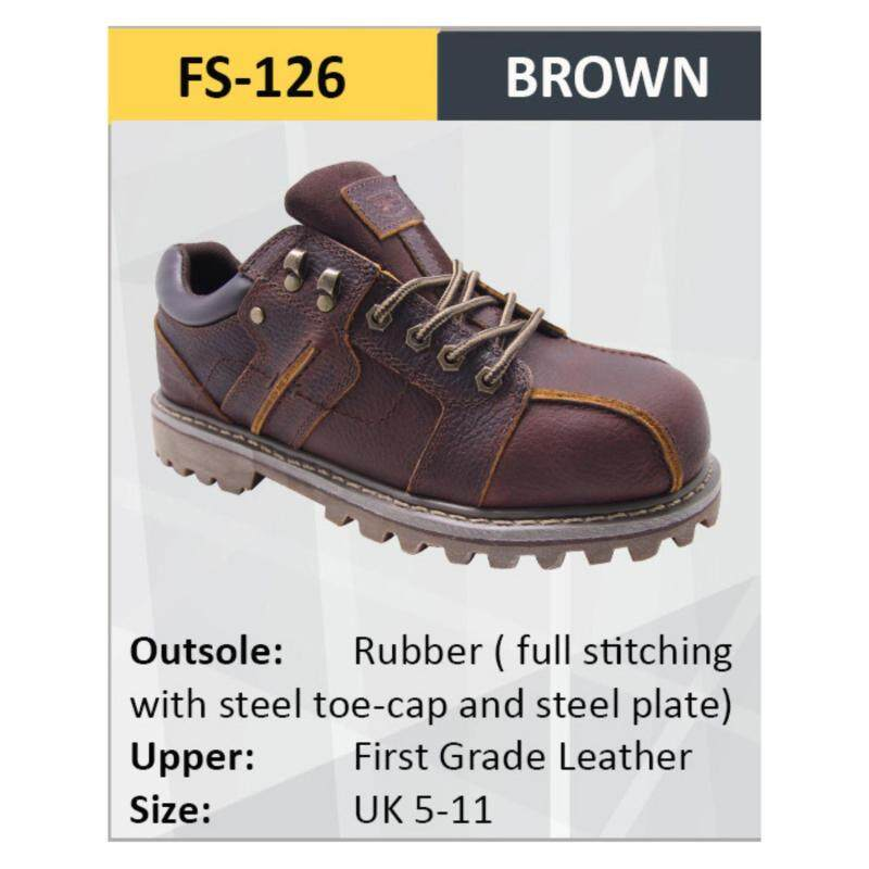 Hercules Safety Shoes First Grade Leather Men Boot SKU-FS126 Sizes 5