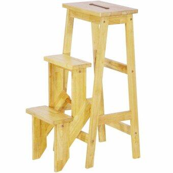 HGF-SS-001N Folding Wooden Step Stool Chair/ Stepladder Natural  sc 1 st  Lazada & HGF-SS-001N Folding Wooden Step Stool Chair/ Stepladder Natural ... islam-shia.org