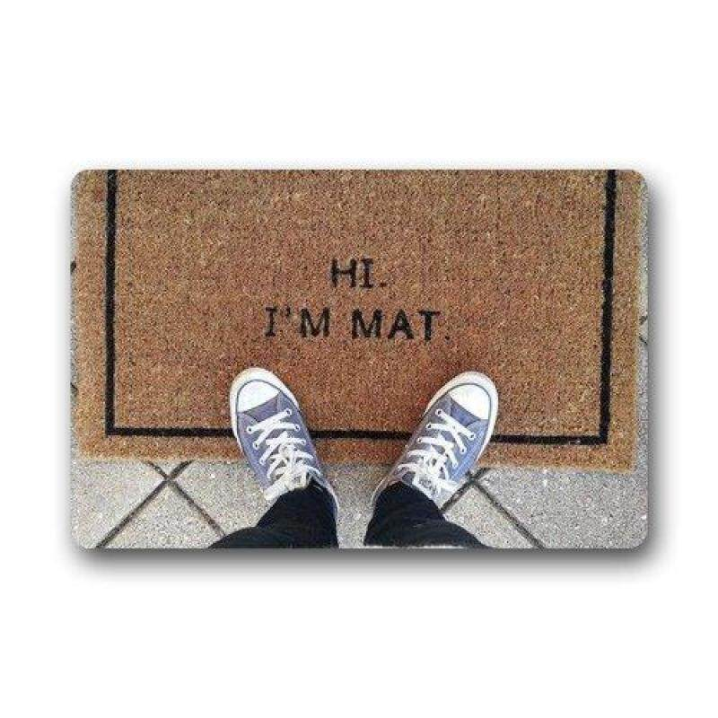 Hi Im Mat Custom Doormat (23.6x15.7 inch) Indoor Outdoor