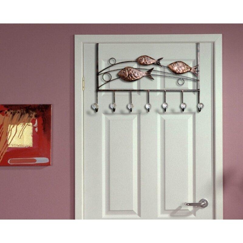High-grade iron door after hook 7 seamless clothes hookEuropean-style bag hook bathroom-free nail strong coat hooks coatrack
