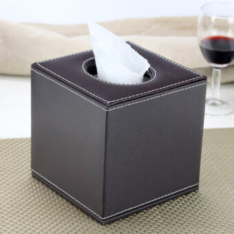 Harga High-grade leather napkin box tissue box