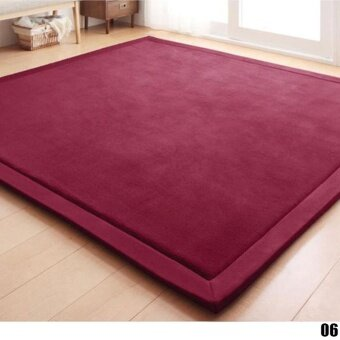 Harga High Quality Store New Vogue Floor Carpets Comfort and Smooth MatsJapanese Styles Rugs(Red Wine )