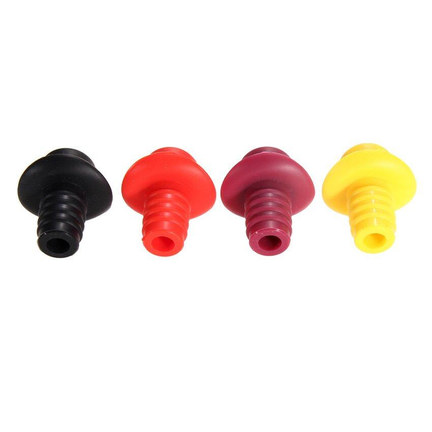 HKS Silicone Red Wine Hat Bottle Stoppers Kitchen Bar Tools Vacuum Sealed - intl