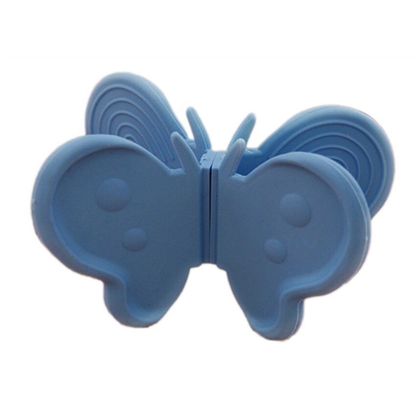 VR_Tech Cute Butterfly Shaped Oven Hot Plate Non-Slip Mitt Holder (Blue) - intl