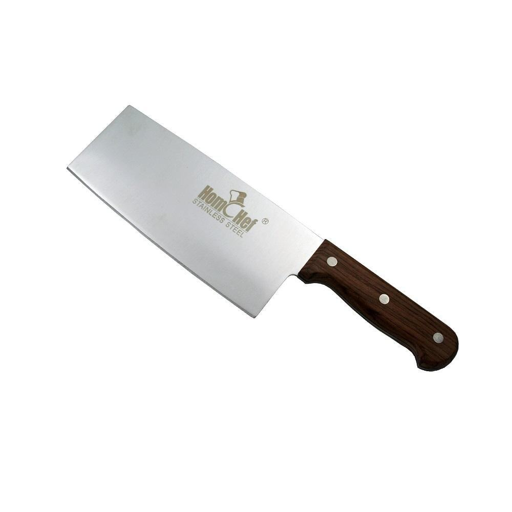 HOMCHEF Chinese Cleaver Knife with Wood Handle - 7 inch