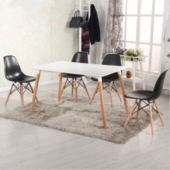 Harga Home & Living: Creative Eames Simple Medium SIzed Dining Table - White