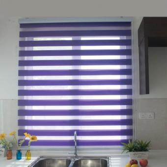[Home Blind] Rainbow Blinds / Zebra Blinds / Korea Import / W137cmx H200cm / Roller Blinds / Window Blinds (Mystical Grape)