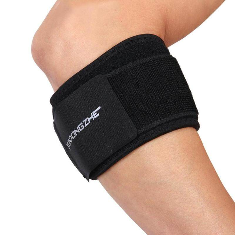 Home Living Knee Elbow Pads Yundongzhe Hand Elbow Guard Wraps Loop Support Band(Black)