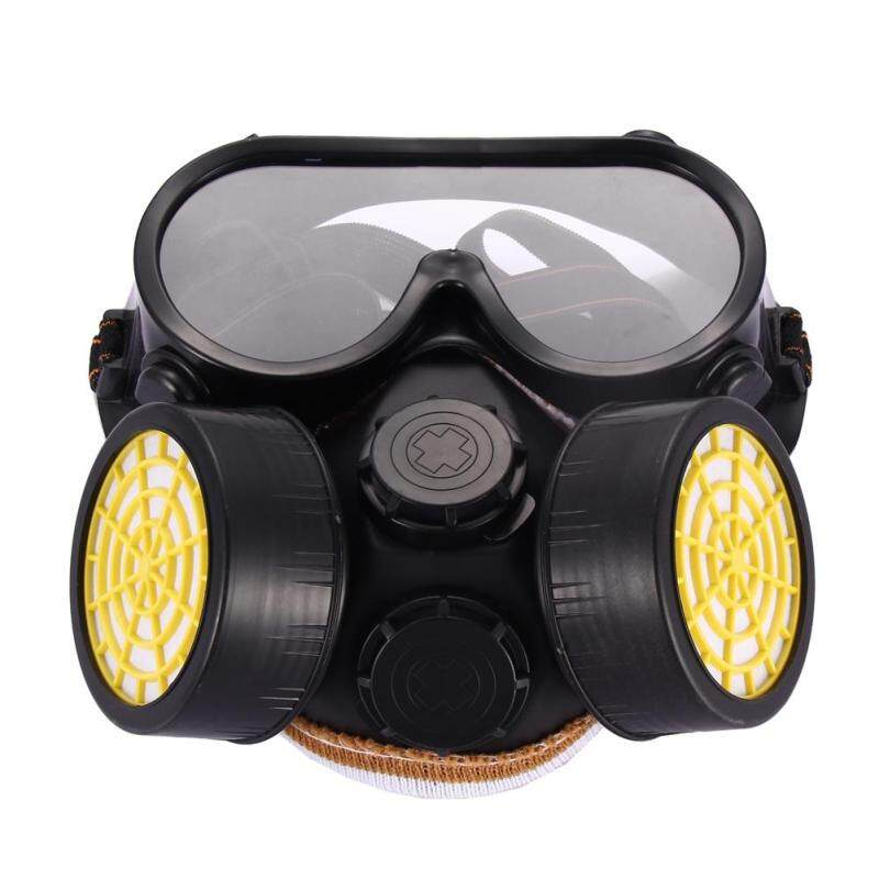 Buy Home Living Masks Filters Industrial Gas Chemical Anti-Dust Paint Respirator Mask Glasses Goggles Set Malaysia
