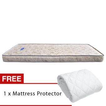 Harga Homez Pure Foam Star 5 inch (127cm) Single Foam Mattress + SingleMattress Protector