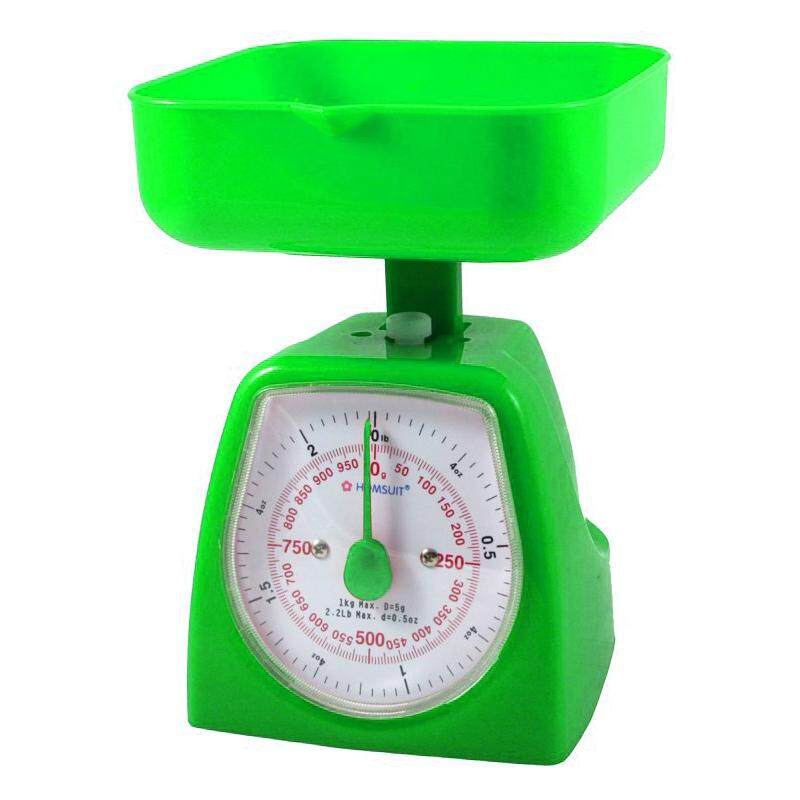 HOMSUIT Kitchen Scale Square 1kg - Green